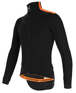 Santini Vega Multi Windproof Cycling Jacket - Size S in Black & Orange