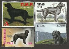 Flat-Coated Retriever * Int'l Postage Stamp Art Collection *Unique Gift Idea*
