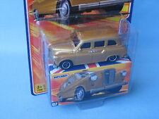 Matchbox Austin FX4 London Tourist Taxi Gold Body Toy Model Car BOB
