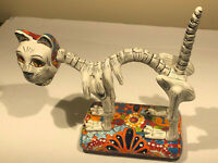 Talavera Catrina Day Of The Dead Mexican Folk Art Cat Skeleton -Gerardo Garcia