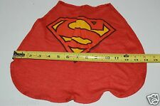 Vintage 1974 Dc Comics Small Superman Velcro Cape Size 4 Toddler? Infant? USA