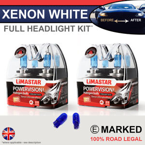 Boxster 986 96-04 Xenon White Upgrade Kit Headlight Dipped High Side Bulbs 6000k