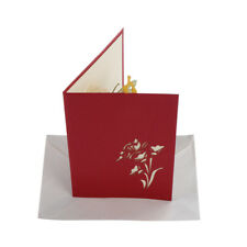 3D Pop UP Holiday Greeting Cards Flower Butterfly Christmas Thanksgiving Gift JX