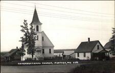 Portage ME Church 1930s-40s Real Photo Postcard