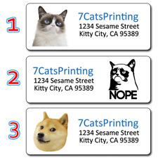 30 Grumpy Cat Return Address Labels RIP