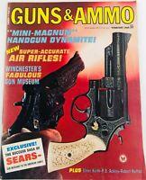 Vintage GUNS & AMMO Magazine February 1968 Mini Magnum