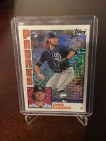 2019 Topps Update Chris Paddack '84 Topps Silver Pack Chrome Holo Insert Padres