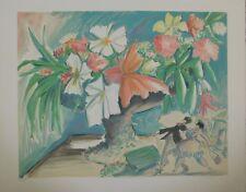 Lithografie Michel Boulet - Flowers