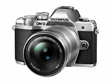 OLYMPUS OM-D E-M10 Mark III Mirrorless Digital Camera EZ Double Zoom Kit Silver