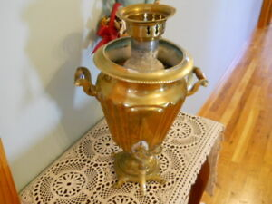 RARE,1870's,FACTORY IN TULA, IMPERIAL RUSSIAN BRASS SAMOVAR, MEDIUM SIZE, HEAVY