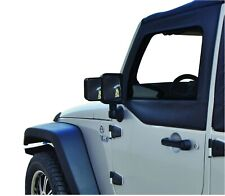 Rampage Black Towing Mirror Extensions for 07-18 Jeep Wrangler - Pair 8605
