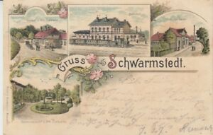 Ansichtskarte Niedersachsen  Schwarmstedt  Bahnhof  Gasthof  Gustav Denker  1900
