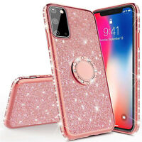 For Samsung Galaxy A51 A71 5G Case Bling Slim Ring Holder TPU Rubber Back Cover