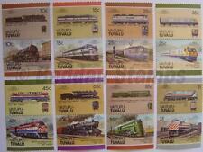 1987 VAITUPU Tuvalu Set #3 Train Locomotive Railway Stamps/Leaders of the World