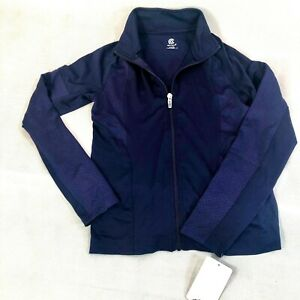 Champion Girls M (7-8) Active Wear Pull Over Navy zip front long sleeves NWT