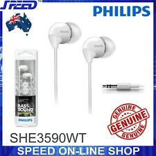 PHILIPS SHE3590WT Headphones Earphones - Extra Bass - WHITE Color - GENUINE