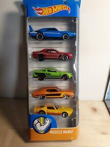 Hot wheels Muscle Mania 5 Pack 1/64 Dodge Mustang Pontiac Daytona