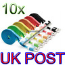 10x For iPhone 4S 4/ iPad 3 2 1 iPod USB Charging Flat Cable Data Charger Lead