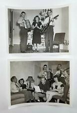 Vintage Vernacular Photograph People Singing Accordion Guitar Music 1949