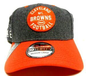 NEW ERA 39Thirty Cleveland Browns NFL Felt Orange 1946 Football Hat Cap 3 Sizes