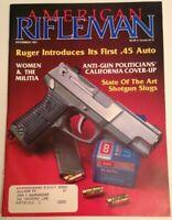 American Rifleman magazine Nov 1991 Ruger first issue .45 auto and shotgun slugs