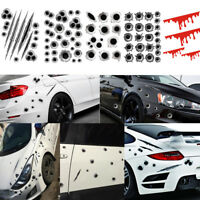 3D Funny Bullet Hole Car Decals Motorcycle Scratch Car Stickers
