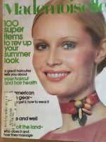 1971 JUNE MADEMOISELLE MAGAZINE - BEAUTIFUL FRONT COVER - FASHION - O 9035