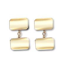 9 Carat Yellow Gold Cufflinks for Men