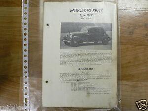 ME01-MERCEDES-BENZ TYPE 170V 1945-1950 -TECHNICAL INFO