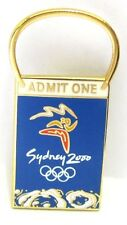 ADMIT ONE TICKET LOGO BLUE SYDNEY OLYMPIC GAMES 2000 PIN BADGE COLLECT #377
