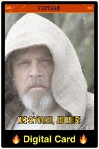 🔥DIGITAL🔥Topps STAR WARS Trader LUKE SKYWALKER Jedi Recluse VINTAGE 4 Card