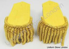 Shoulder Board all Gold with Gold Wire Fringe Sold Pair R767