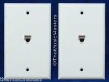 2X Modular Flush Mount Phone WALL PLATE JACK TELEPHONE Line Outlet Cover VWLTW