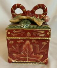 Fitz And Floyd Regal Holiday Lidded Box