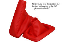 B Cuero Rojo Para Bmw Serie 3 E36 E46 arranque personalizado polainas Set cubierta 1992-2005