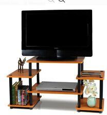 "TV Stand & Entertainment Center Turn-N-Tube light cherry/black up to 50"" screen"