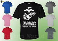 USMC T Shirt - The Few The Proud USMC Tee - Marine Corps Shirt -  Licensed Tee