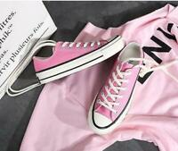 Women's Lace Up Low Top Canvas Athletic Sneakers Breathable Flat Shoes SZ