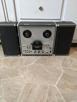 Vintage SANYO MR- 929 Stereophonic Reel to Reel Player Recorder W/ Speakers