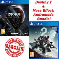 Destiny 2 and Mass Effect Andromeda Bundle - PS4 Playstation 4 - UK PAL - NEW !