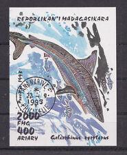"""toller Sondermarkenblock Madagaskar """" Hundshai """" Mich. Nr. Block 210"""