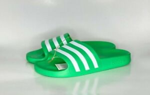 adidas Adilette Aqua Men Slides FY8106 Vivid Green/Cloud White NWT