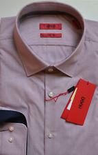 NWT HUGO (Hugo Boss Red Label) by Hugo Boss Sharp Fit Stripe Pattern Dress Shirt