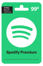 SPOTIFY GIFT CARD 1 ANNO 1 YEAR PREMIUM