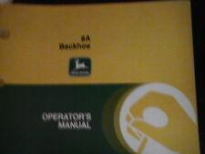 JOHN DEERE OPERATOR'S MANUAL 8A BACKHOE ISSUE D0