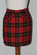 mini jupe carreaux style ecossais rouge noir etam t 34 pure vintage