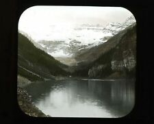 PHOTO ON  GLASS BLACK   WHITE -- LAKE LOUISE, CANADA