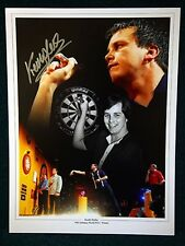 Keith Deller Signed Darts Large Photograph