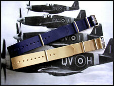 22mm Blue-Tan NATO G10 nylon watch strap band 2pak utc Bonded IW SUISSE 18 20 24