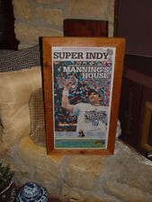 NEW YORK GIANTS 2012 FRAMED SUPER BOWL XLVI CHAMPION ORIGINAL NEWSPAPER